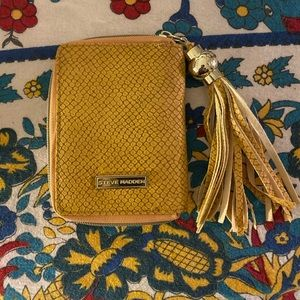 Mustard card and coin clutch